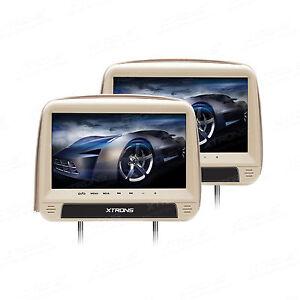 xtrons 2x 9 zoll kopfst tze auto dvd player digital screen. Black Bedroom Furniture Sets. Home Design Ideas