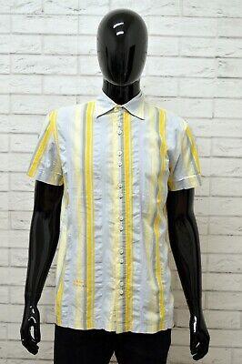 Amichevole Camicia Camicetta Diesel Uomo Taglia M Maglia Shirt Manica Corta Cotone A Righe Firm In Structure