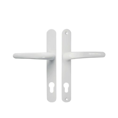 UPVC//Double glazed WHITE vitawin universal door handle  92pz 215mm holes