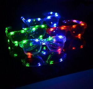 LED Flashing Light Up Retro Aviator Party Favors Blinking Glasses Colors Shades