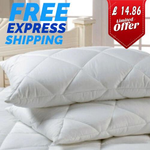 4 Pack Luxury Ultra Loft Jumbo Super Bounce Back Pillows