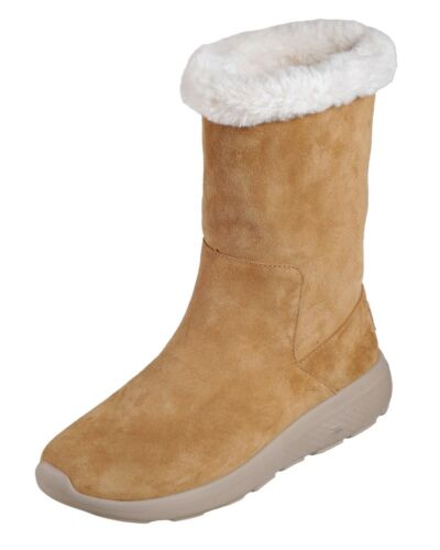 On Size 2 Appealing Boots Chestnut 3 8 Flat Skechers New Suede The Go City Calf 1X75qRnY