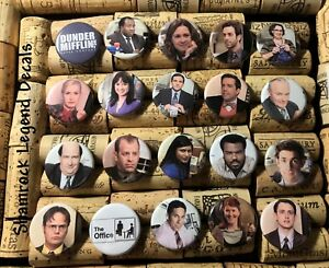 Details about THE OFFICE Set 20 Buttons Pins Michael Scott Dwight Dunder  Mifflin 1 1/4
