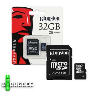 KINGSTON-MICRO-SD-SCHEDA-DI-MEMORIA-32GB-SDHC-Classe-4-telefono-cellulare-con-adattatore-SD