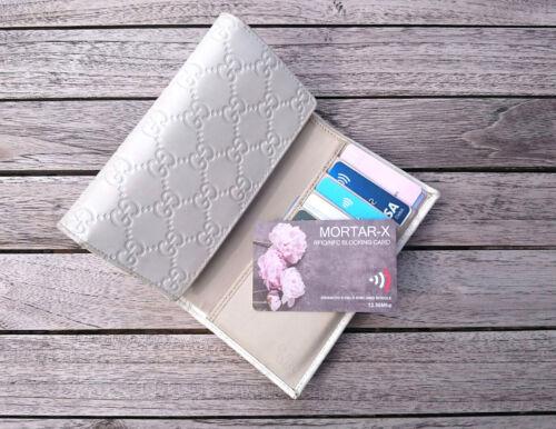 MORTAR-X RFID NFC Blocking Credit Card Contactless Data Blocker Purse Protector