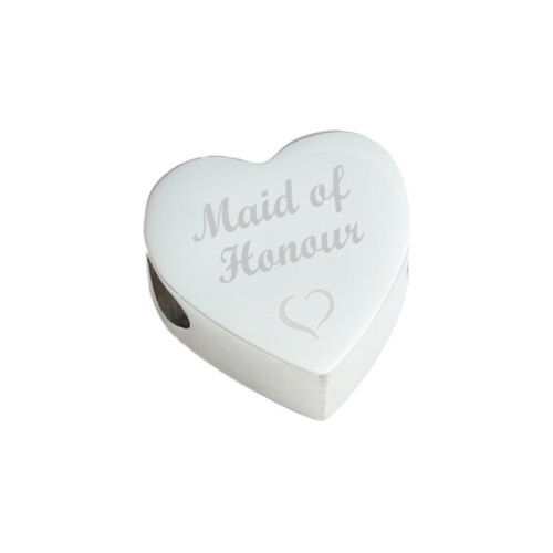 Sanabelle ™ Dama De Honor Personalizado Bead Fits pulsera con dijes del encanto del corazón