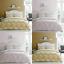 thumbnail 1 - Catherine Lansfield Damask Reversible Easy Care Duvet Cover Set Blush or Ochre