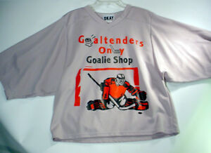 Image is loading GOALTENDERS-ONLY-Shop-HOCKEY-JERSEY-Goalie-Cut-SHIRT- 1a24d46ffbb