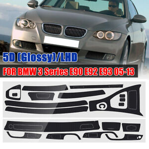5D-Glossy-Carbon-Fiber-Interior-Decal-Trim-For-BMW-3-Series-E90-E92-E93