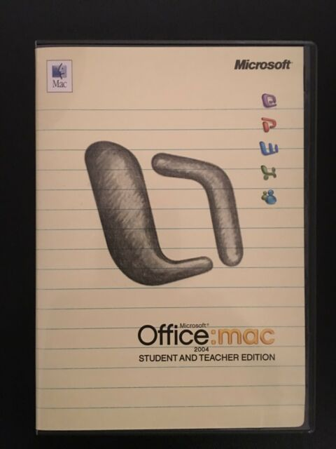 Microsoft office 2004 student and teacher edition sale
