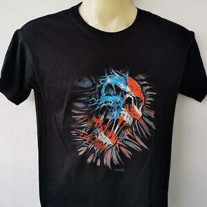 USA-Skull-666-Horror-Plus-Size-T-Shirt-XS-5XL-Ubergroesse