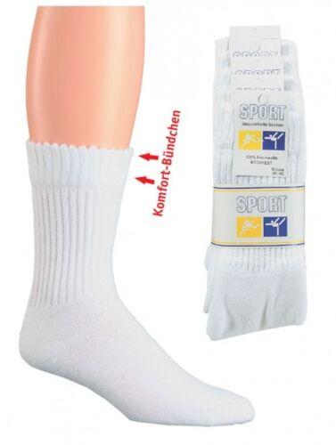 5 paia calze da tennis con bordi confortevoli, Sport Salute Calzini, bianco ch-925