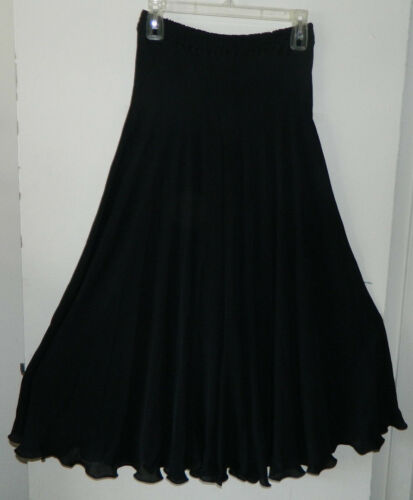 0de2fca72f Like Silk Solid Women Shibori Carter Pants Skirt Black New Harem Sheer S  100 AxnaWBBv