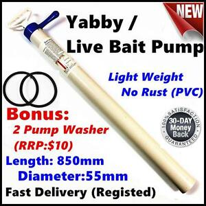 PVC-Yabby-Live-Bait-Fishing-Pump-Bonus-2-washers-Light-Weight-No-Rust
