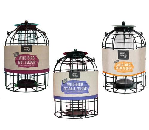 Metal Hanging Lantern Wild Bird Feeders Fat Balls Graines Noix jardin cage Station