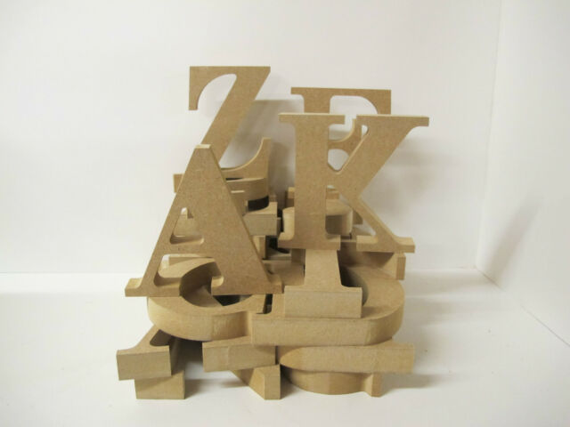 WOODEN LETTERS FREESTANDING 100mm High 18mm Thick