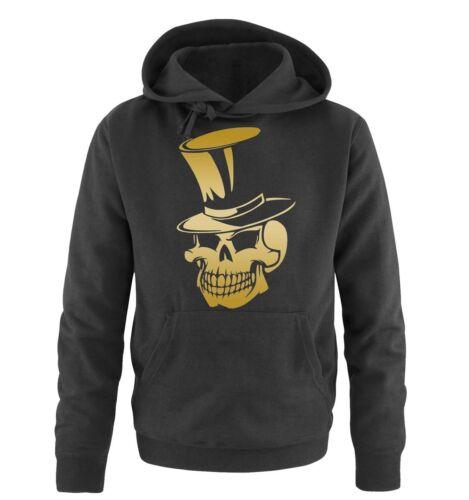 Herren HoodieMode Motiv Neu Comedy Shirts Skull Zylinder