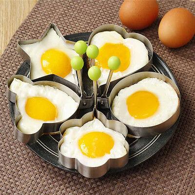 5pcs/Set Egg Mold Pancake Mould Ring Fried Cooking Shaper Kitchen Tools Gadgets