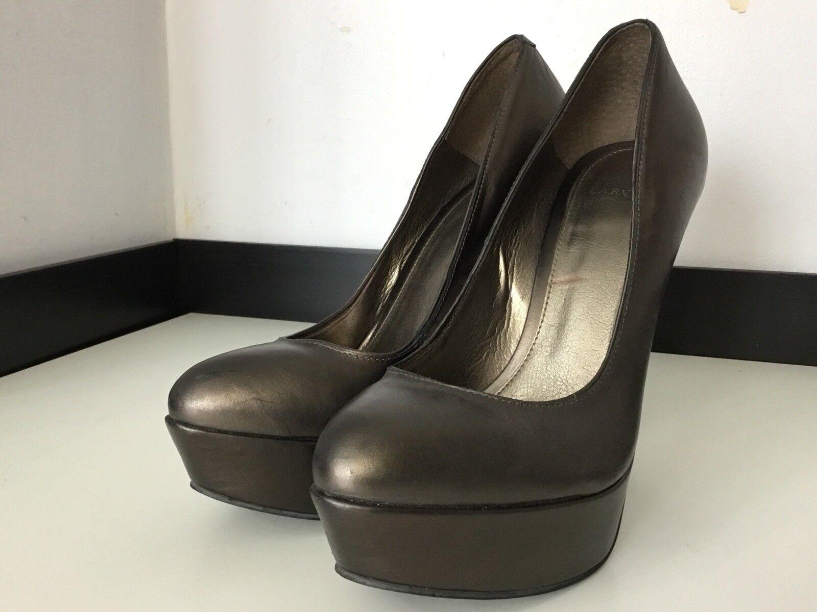 Carvela Bronze High Heel Heel Heel schuhe, Leather, Größe Uk 6 Eu 39 VGC e5214f