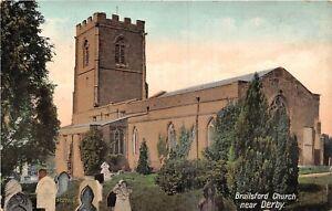 POSTCARD-DERBYSHIRE-BRAILSFORD-Church
