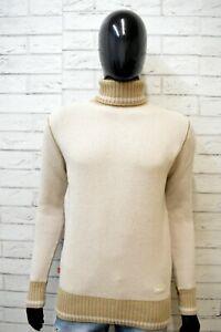 Levi-039-s-Maglione-Cardigan-Beige-Uomo-Taglia-M-Pullover-Felpa-Sweater-Lana-Man