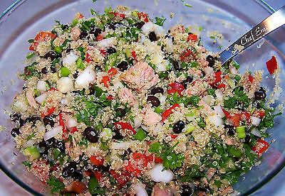Healthy Quinoa Tuna Vegetables salad by Chef Emi