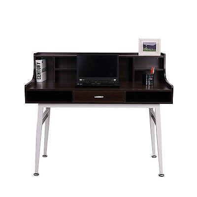 HOMCOM Computer Table Writing Desk Executive Wooden Home Office w/ Shelf Drawer