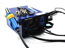 New Digital Display SMD Hot Air Gun Rework Soldering Iron Station Fume Extractor