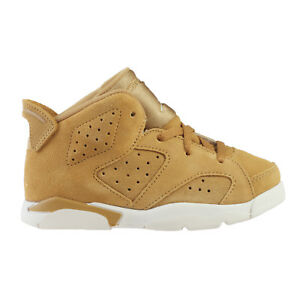 3c3e98d35edd3f Jordan 6 Retro Wheat Toddlers 384667-705 Golden Harvest Sail Shoes ...