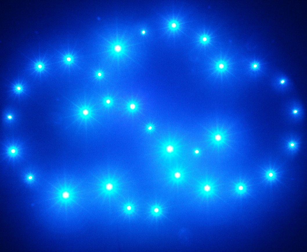 12V Dimmbarer Sternenhimmel für Wohnraum, Badezimmer, Kinderzimmer Nachlicht