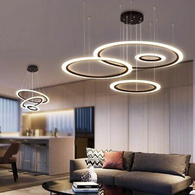 Black Coffee Color Modern Led Pendant Lights For Living Room Dining Room  Lamp | eBay