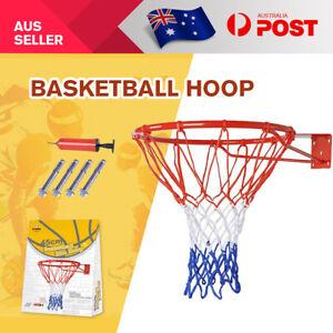 Basketball-Hoop-Ring-Pro-Size-Wall-Mounted-Goal-Net-Rim-Dunk-Shooting-Outdoor