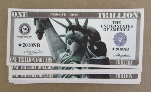 50 TRILLION DOLLAR BILLS  USA NOVELTY WHOLESALE LOT TRILLION DOLLAR BILLS