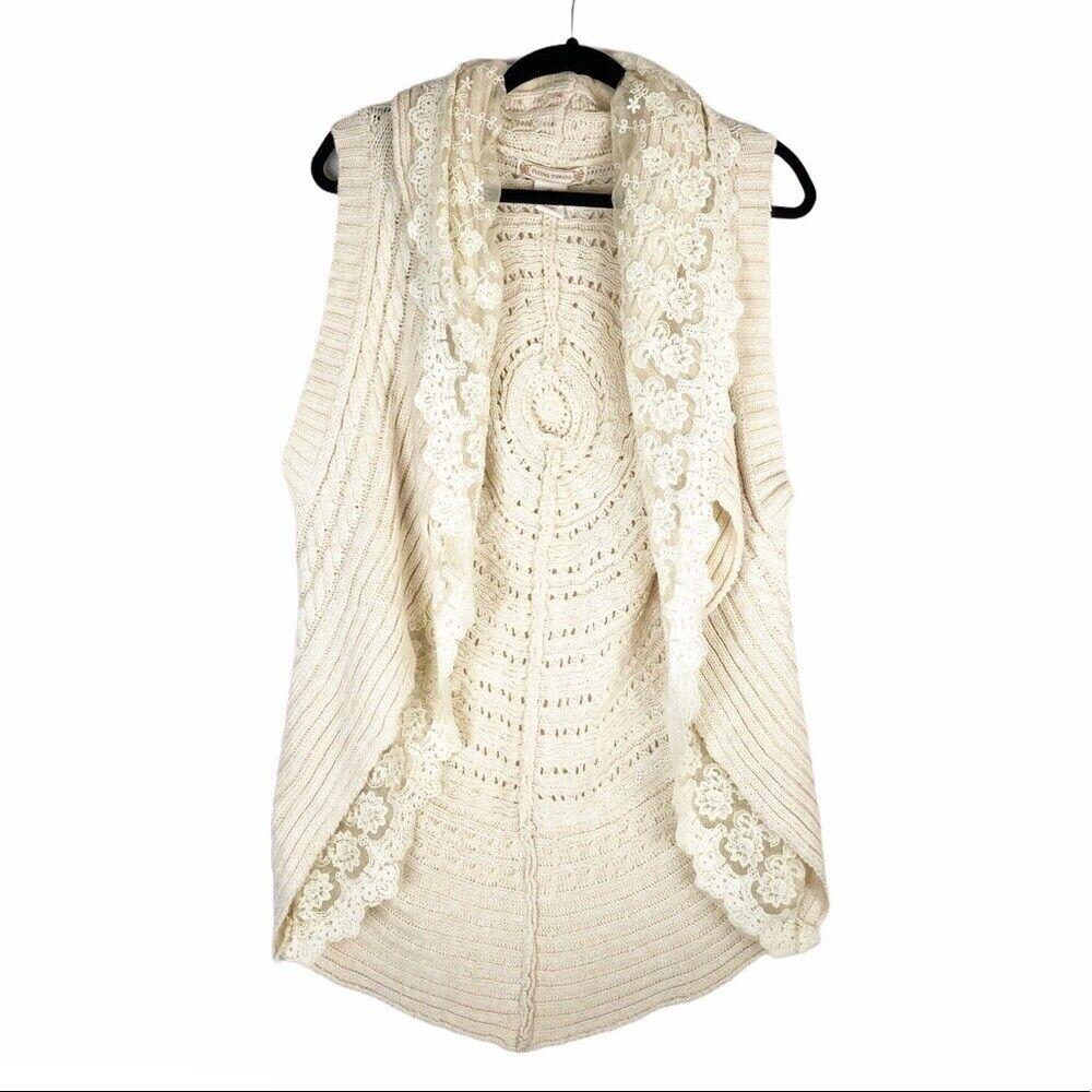 Flying Tomato cream lace crochet sweater vest - image 2
