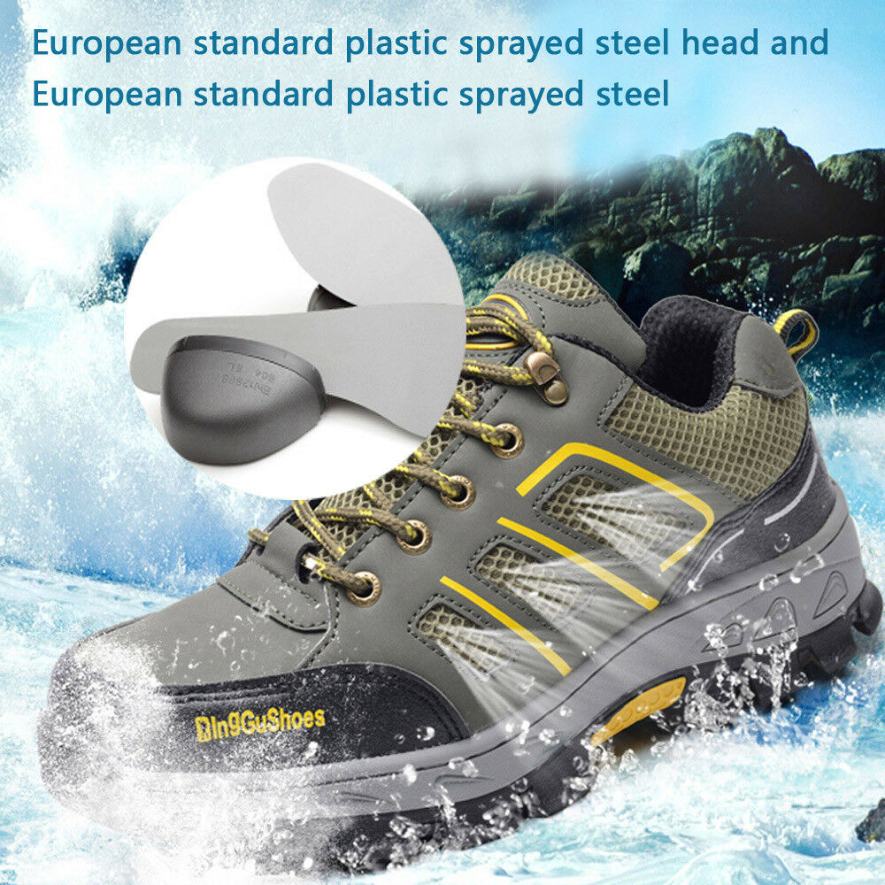 Men's Safety shoes Construction Breathable Working Steel Toe Sole Boots from US