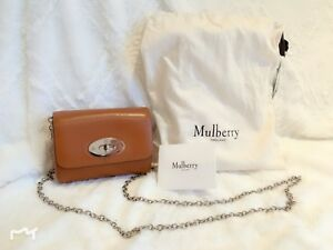c841ccadb628 Genuine Mulberry Beige Brown Mini Lily Bag Chain Crossbody Woman ...