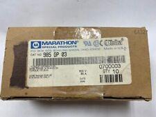 Marathon Dead Front Fuse Blocks 985gp03 New Old Stock Box Of 10