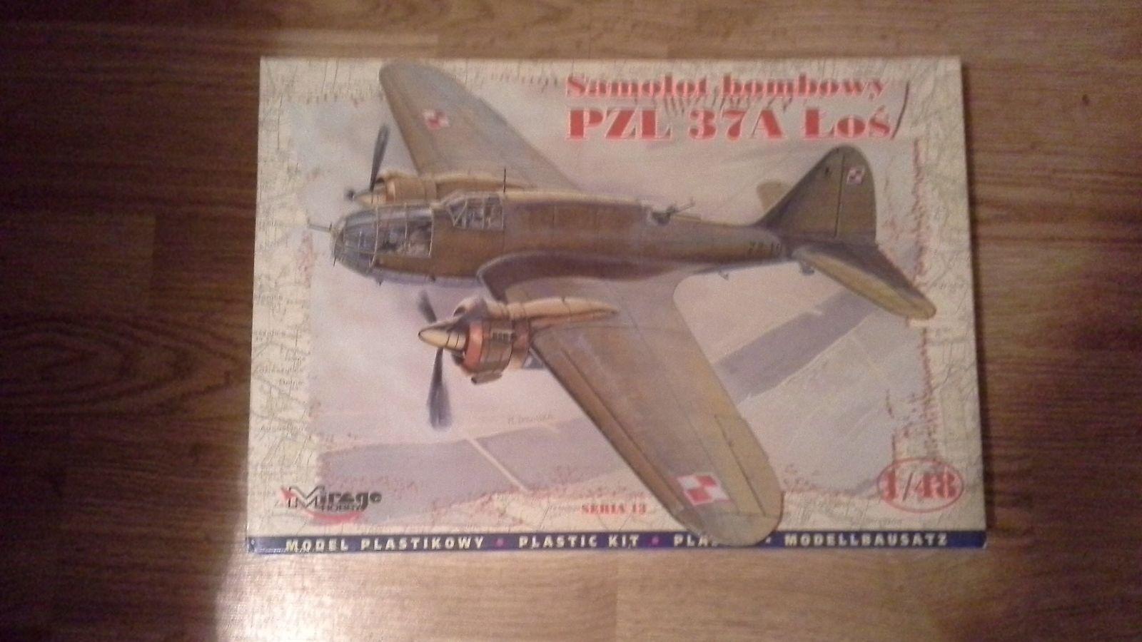 Mirage hobby 1 48 samolot bombowy pzl 37a los