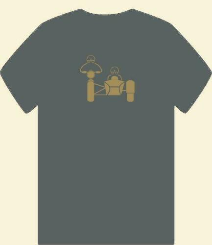 """/""""RIDER AND PASSENGER SIDECAR OUTFIT/"""" MENS T SHIRT SML-3XL MOTORCYCLE COMBINATION"""