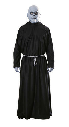 Deluxe Uncle Fester Men/'s Fancy Dress Addams Family Halloween Adult Costume New