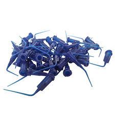 100pcs Dental Disposable Plastic Pre Bent Irrigation Blue Color Dc
