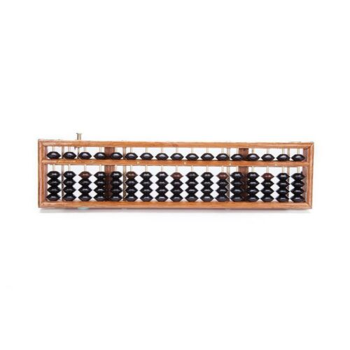 Vintage Style 17 Digit Rod Wooden Abacus Soroban Chinese Japanese Calculator 14/""