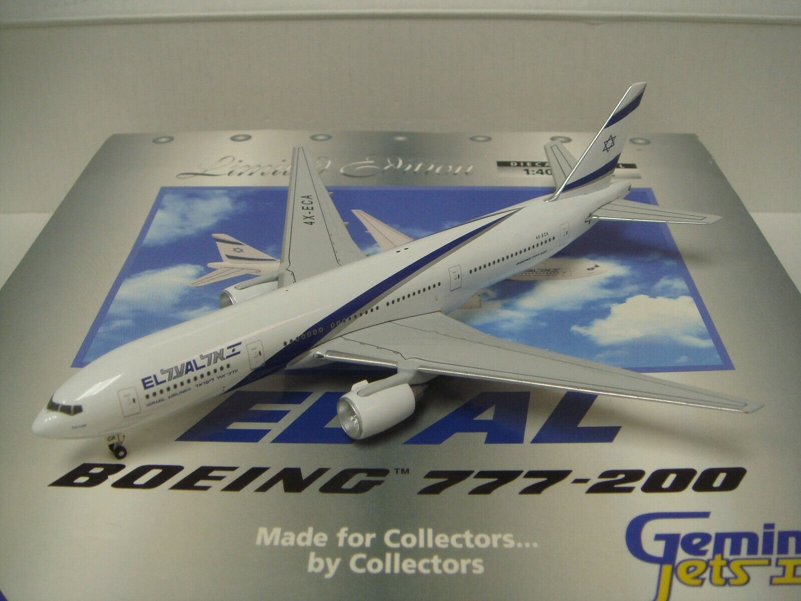 di moda Gemini Jets 400 El Al Israel B777-200ER  1990s Coloreeeee- Coloreeeee- Coloreeeee- Gailee  1 400  con il 60% di sconto