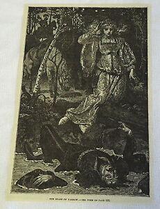 1882-Revista-Grabado-The-Braes-de-Milenrama-Woman-Hallazgos-Dead-Man-en