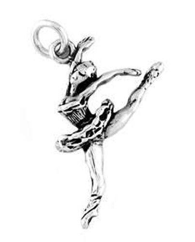 STERLING SILVER JUMPING BALLERINA CHARM//PENDANT