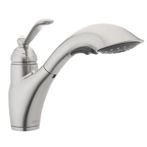 Franke USA 115.0287.056 Single Handle Pull out Kitchen Faucet Satin ...
