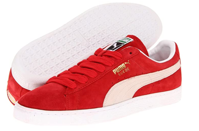 PUMA SUEDE CLASSIC High Risk Red - White SHOES NEW in Box 352634 65