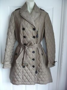e9370f6f5d9 Burberry Brit L NWT Coat Quilted Belted Beige Nova Check Lined  795 ...