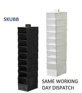 Divisor De Título 9 Nuevo Armario Original Detalles Ikea Compartimentos Organizador Colgando Ropa Skubb Ver vn0m8wN