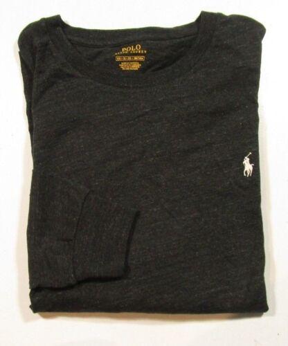 Polo Ralph Lauren Big /& Tall Men/'s Black Heather Long Sleeve Crew-Neck T-Shirt